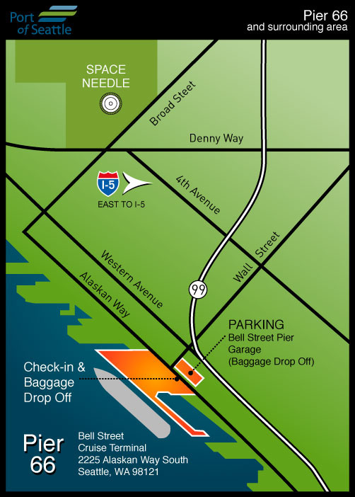Cruise Terminal Map Pier 66 | Port of Seattle