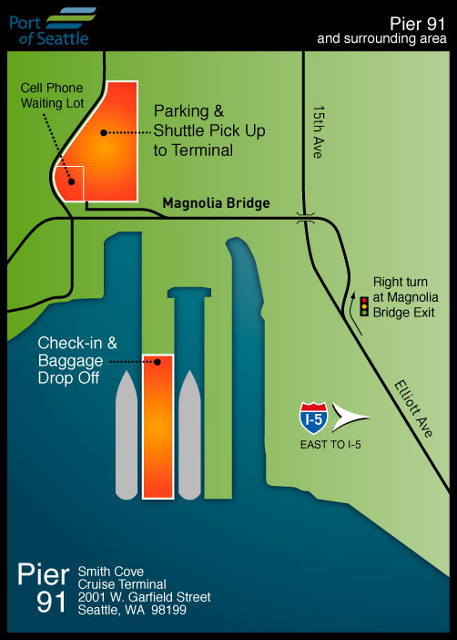 Cruise Terminal Map Pier 91 | Port of Seattle