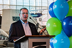 Steve Metruck speaks at the 2020 Community Giving Campaign kickoff event