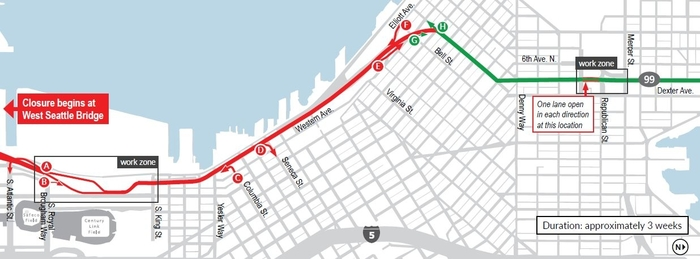 Viaduct Closure Map