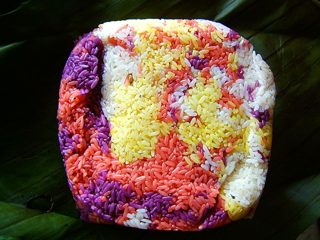 Colorful sticky rice cake