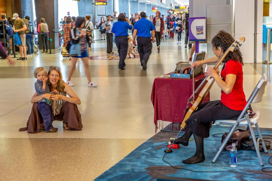 Music at the airport