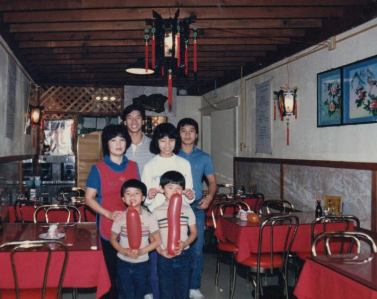 Mama Lan and family photo from the 70s