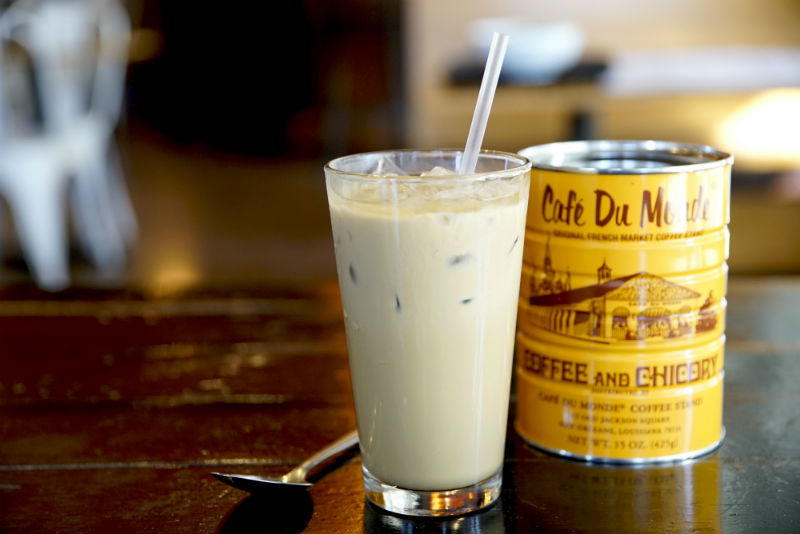 Vietnamese iced coffee made with Cafe du Monde