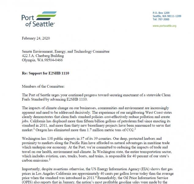 Copy of the Low Carbon Fuel Standard Letter