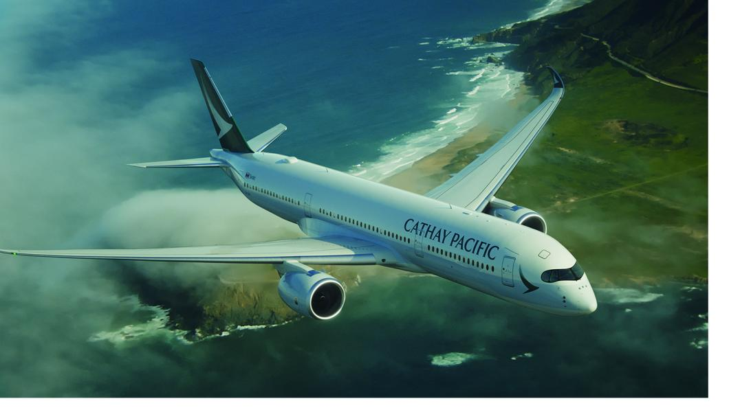 Cathay Pacific aircraft in flight