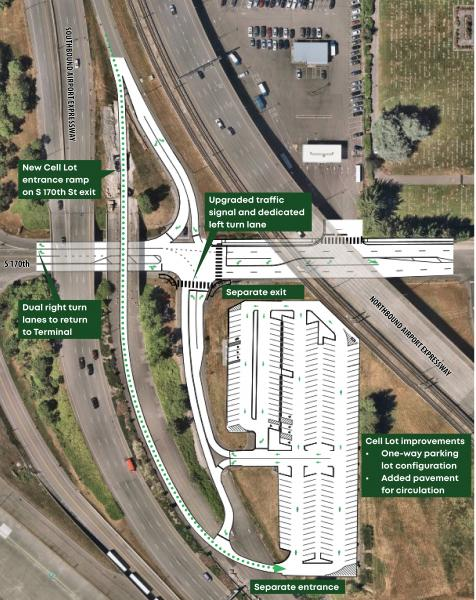 cell phone lot improvements map