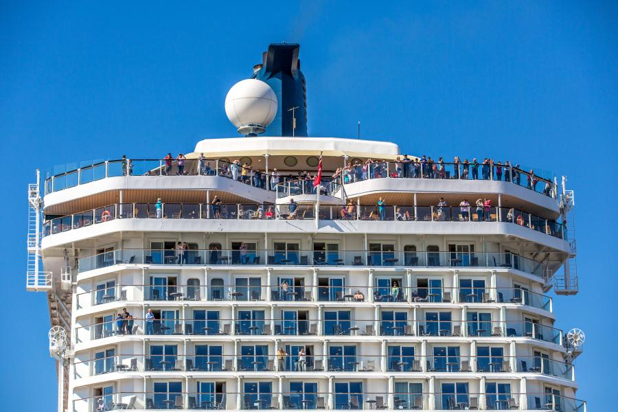 Close up of cruise ship