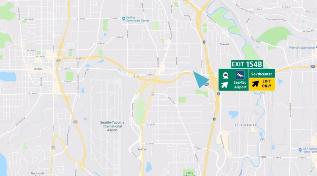 Directions to The Conference Center at SEA (Southbound I-5)