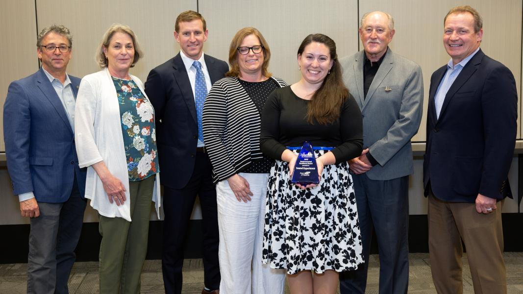 Port Commissioners and Executives present Sound Experience representatives with the Maritime Environmental Excellence Award in Education and Outreach