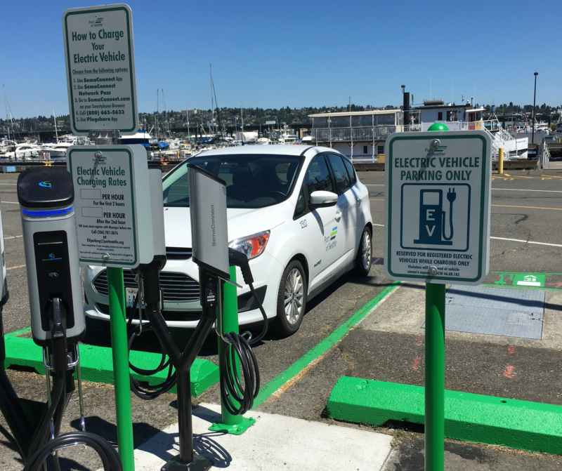 EV Charging stations at Fishermen's Terminal