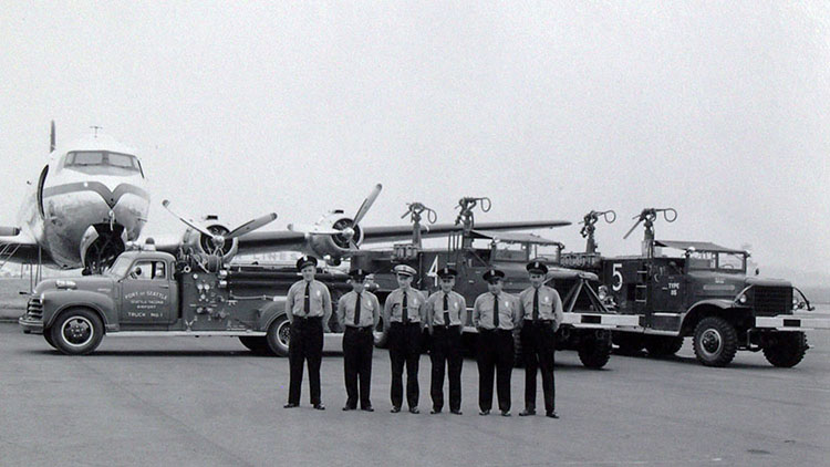 Early Port of Seattle Fire Crew