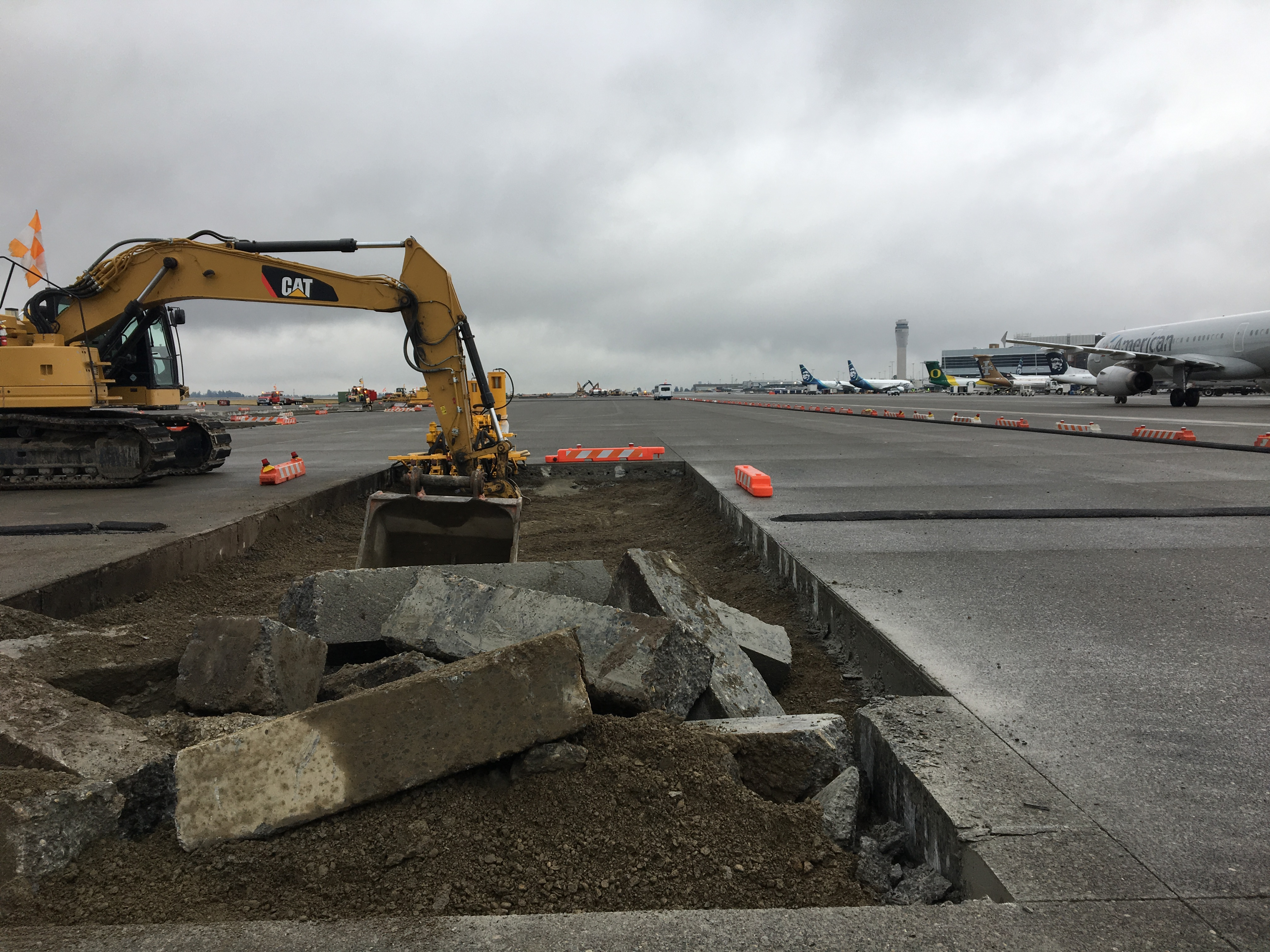 Construction on the Airfield