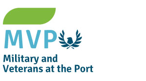 Logo for Military and Veterans at the Port (MVP)