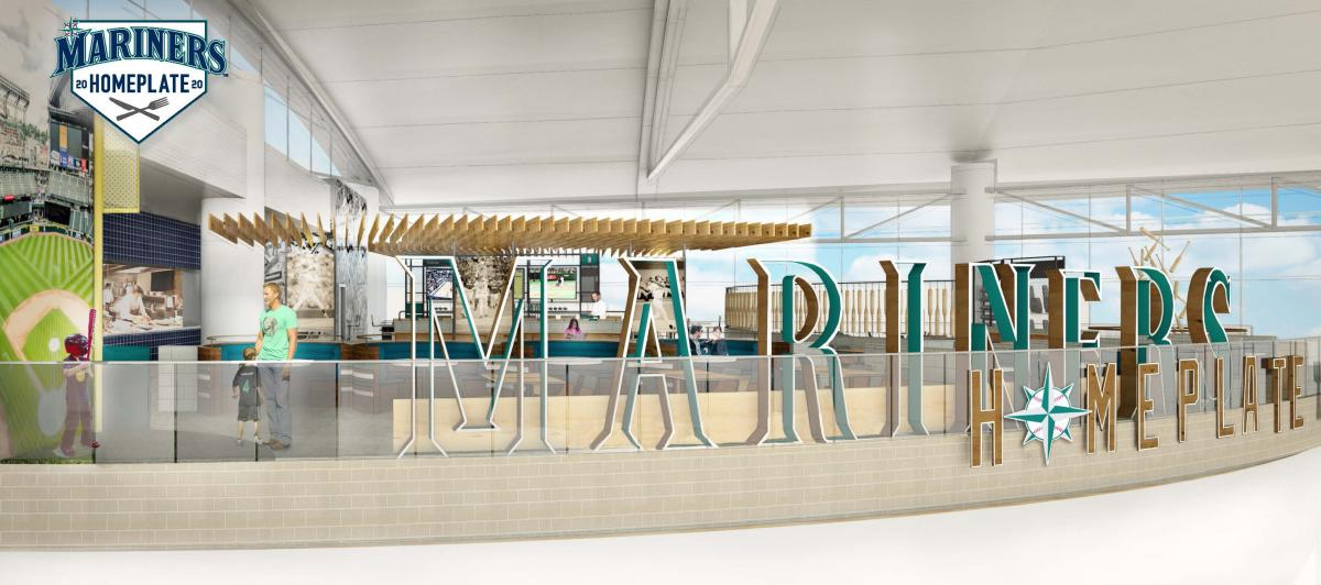 Rendering of Mariners Homeplate and Dugout Bar