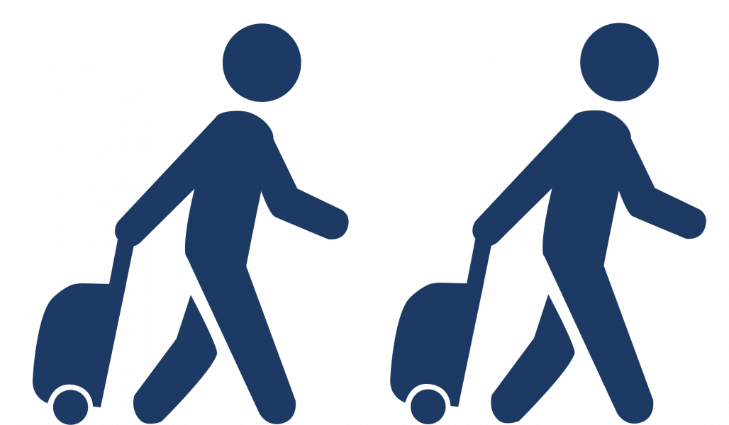 Passengers with Luggage