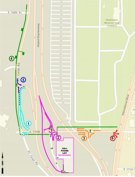 air cargo road and s 170th street planned improvements map