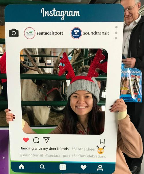 Reindeer and Bryanna Bui pose in a selfie