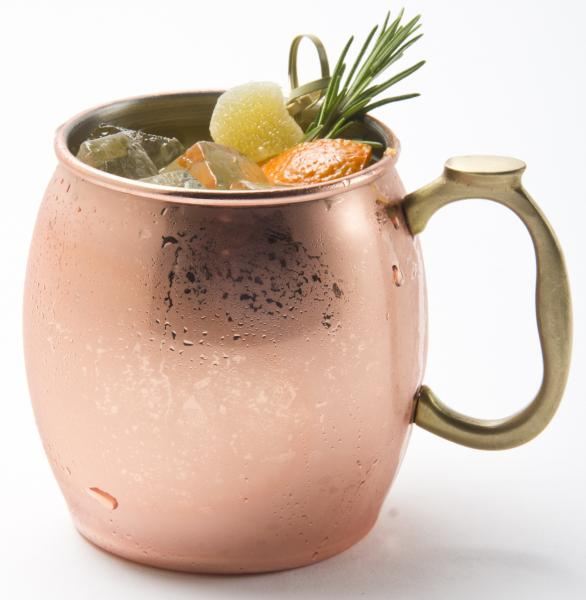 Cranberry Rosemary Mule at Rel'Lish Burger Lounge