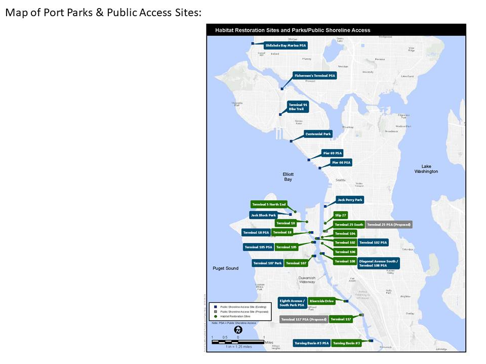 Habitat Restoration Sites and Parks/Public Shoreline Access