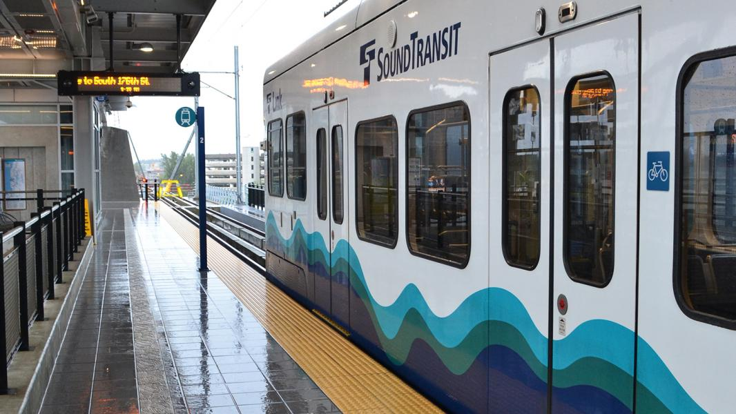 Sound Transit Link light rail at Sea-Tac Airport