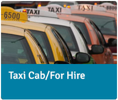 Taxi cab/for hire