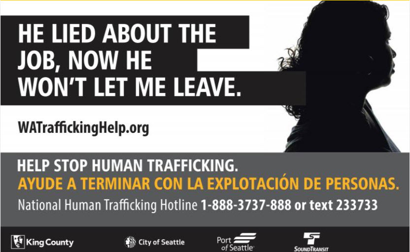 Advertisment for survivors of human trafficking