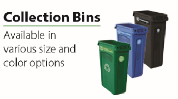 Recycling, compost and trash bins