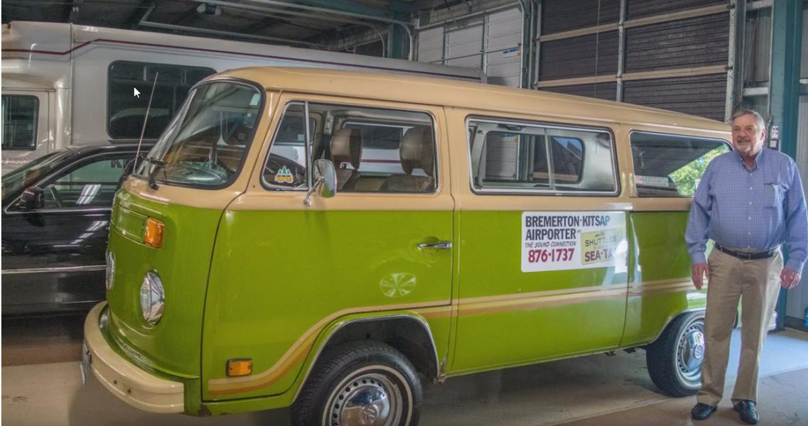 Kitsap Airporter VW bus
