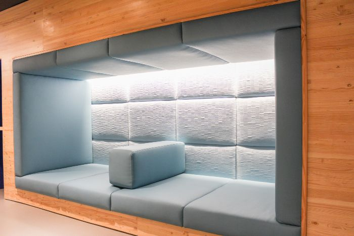 Seating nook in the sensory room
