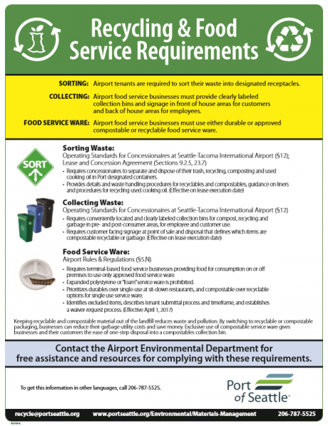 Recycling rules and requirements flyer