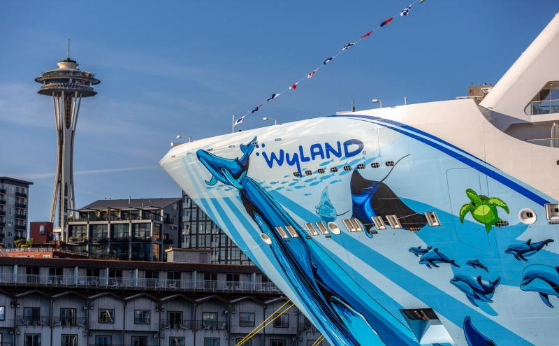 Wyland Hull on the Norwegian Bliss in Seattle
