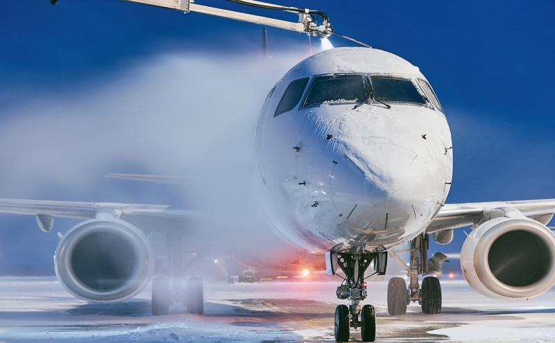 Aircraft being de-iced (stock photo)