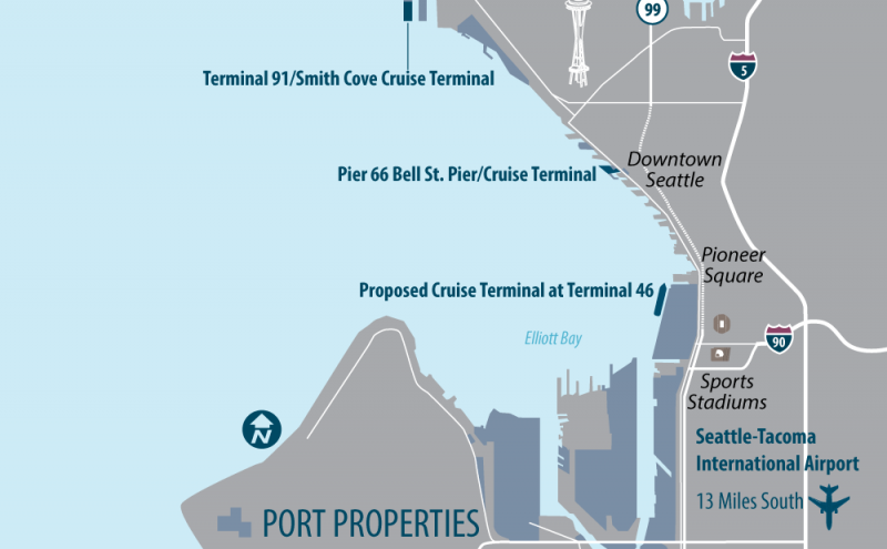 New Cruise Terminal Map