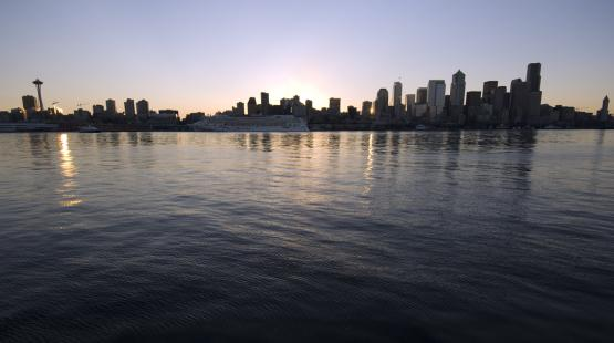 Seattle skyline from the water
